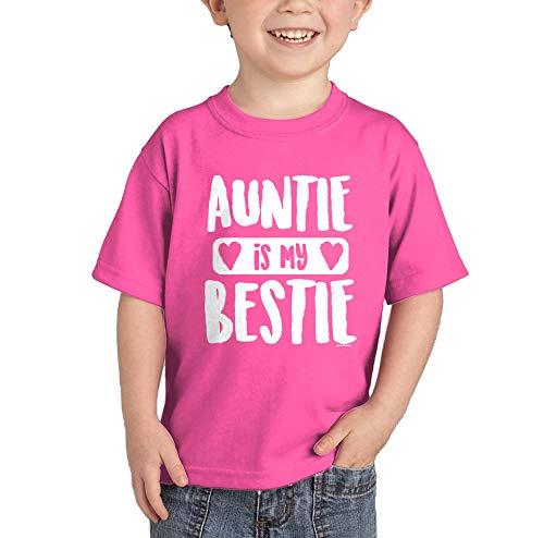HAASE UNLIMITED Auntie is My Bestie T-Shirt (Pink, 5T)