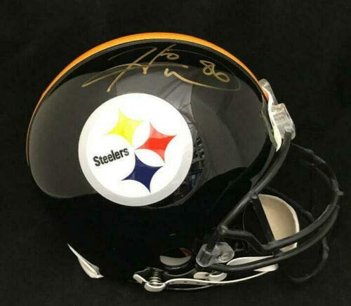 HINES WARD STEELERS AUTOGRAPHED FULL SIZE FS AUTHENTIC PROLINE HELMET JSA COA