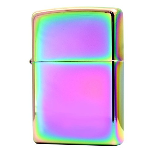 Classic Spectrum Zippo Outdoor Indoor Windproof Lighter Free Custom Personalized Engraved Message Permanent Lifetime Engraving on Backside (Personalized Zippo Spectrum Lighter)