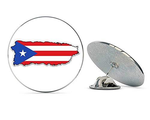 NYC Jewelers Puerto Rico Flag Map Metal 0.75