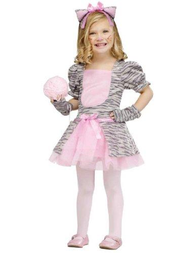 Toddler Grey Kitten Girls Costumes (Fun World Costumes Baby Girl's Grey Kitten Toddler Costume, Grey/Black/Pink, Large)
