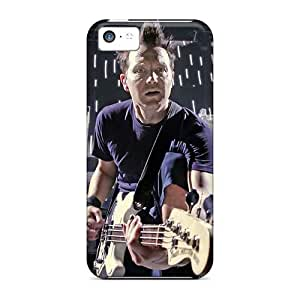 Bumper Hard Phone Covers For Iphone 5c (tvG19532vHlW) Customized Vivid Blink 182 Band Image