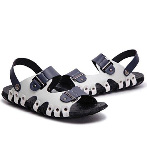 Estate Infradito Uomo Stile blu Mallimoda Spiaggia Scarpe Casual 1 Sandal Pelle fU5xqSwY