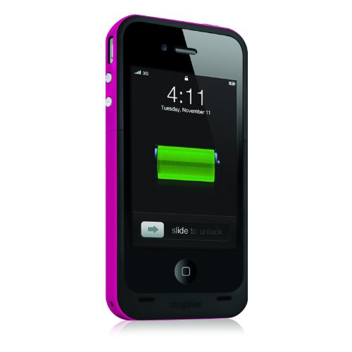 Mophie Juice Pack Plus for iPhone 4/4s (Certified Refurbished) (Magenta)