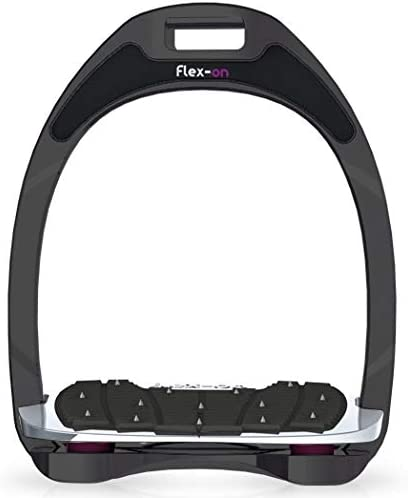 【Amazon.co.jp 限定】フレクソン(Flex-On) 鐙 アルミニウムレンジ Mixed ultra-grip フレームカラー:Sideral エラストマー:プラム 81500