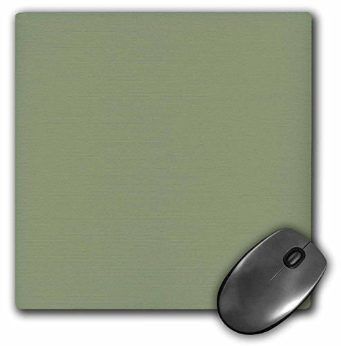3dRose LLC 8 x 8 x 0.25 Inches Mouse Pad, Moss Green Greenish Grey Gray Muddy Plain Simple One Single Solid Color Brown Green Sage (mp_159859_1)