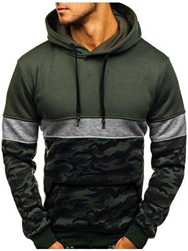 haoricu Men Camouflage Pullover Hoodie Long Sleeve Hooded Sweatshirt Camo Tops Teen Boy Casual Sport Blouse