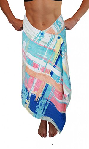 Simple Sarongs Women's Beach Towel Swimsuit Cover-up Wrap One Size Watercolors Multi