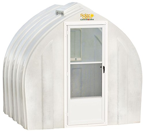 Solar Gem 8' x 7.5' Small, Fully Assembled, Heavy Duty, Walk-In Fiberglass Greenhouse ()