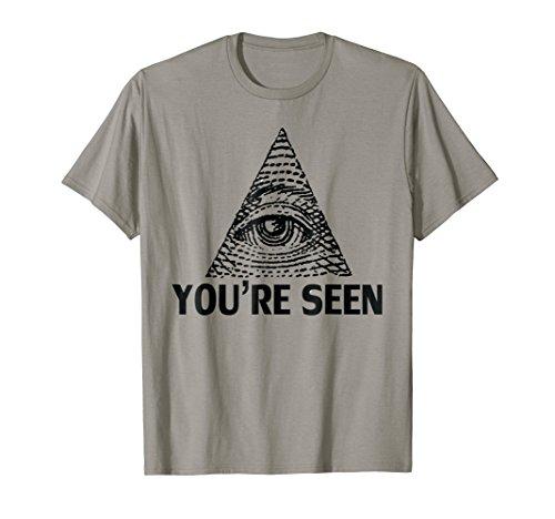 Pyramid Dollar Bill - Eye of Horus Illuminati Dollar Bill Pyramid T-shirt