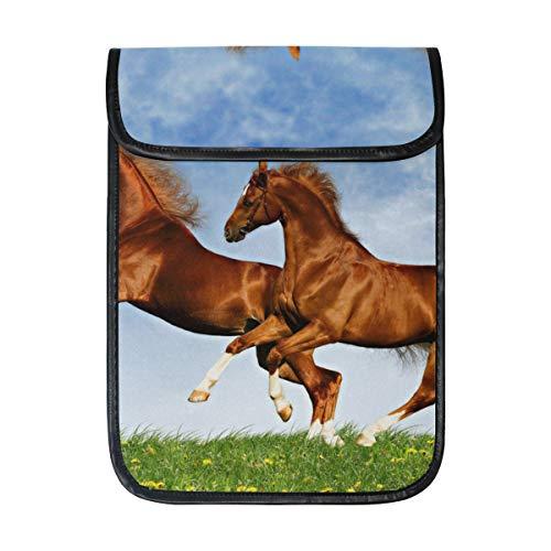 KEAKIA Two Horses Frolic On The Plain Laptop Tablet Sleeve iPad Pro Case Cushion Protective Sleeve Bag Cover Case for Apple iPad Pro 12.9 ()
