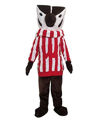 Wisconsin Bucky Badger Fox Mascot Costume Adult Halloween Costume Brown]()
