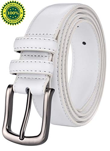 Mens Belt,HW Zone Genuine Leather Dress Belt Classic Casual 1 1/4