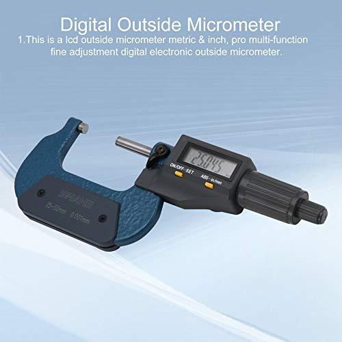 HoganeyVan SHAHE 0.001mm Digital Outside Micrometer 25-50mm//50-75mm//75-100mm Waterproof Electronic Micrometer Measuring Tool
