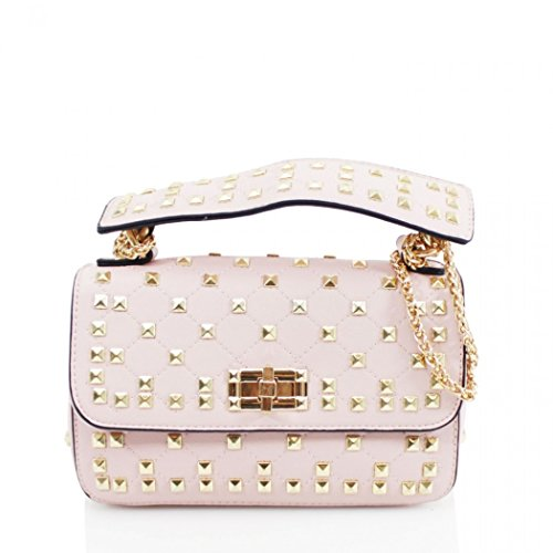 LeahWard Shoulder Body Pink Handbag Cross Women's Bag Studded Bags 257 Cute rAxrFan