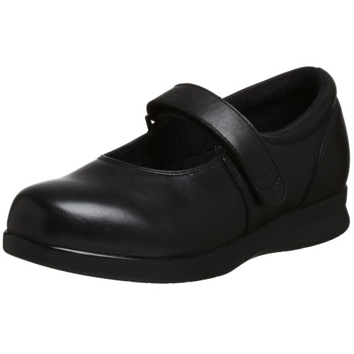 Drew Shoe Women's Bloom II Mary Jane,Black Calf,8.5 WW US (Drew Leather Mary Janes)