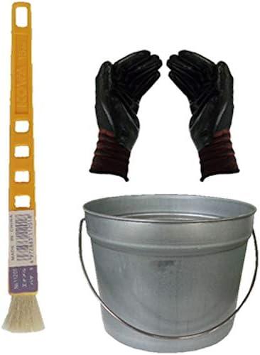 ペール缶付き黄柄エナメルハケS(作業手袋付き)通常便
