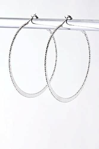 TRENDY FASHION JEWELRY TEXTURED HOOP EARRINGS BY FASHION DESTINATION