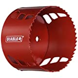 Freud DHS4000 Diablo High Performance Hole Saw Ideal for Drilling Wood, Plastic, Aluminum, Metal and Stainless Steel, 4-Inch X 2-3/8-Inch