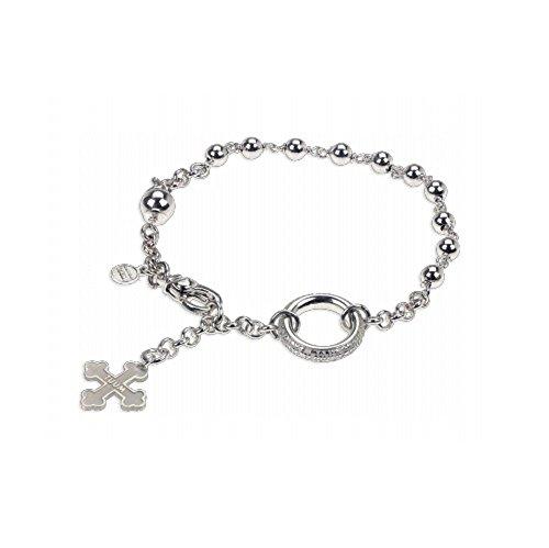TUUM Maglione Gioielli Bracelet rosaire en argent rhodié et grains BROS009XC0 Argent
