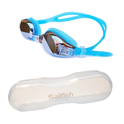 Best Kids Swim Goggles - Anti Fog - Mirror Coating - Latex Free - Easy Adjustable Strap - Clear Vision - No Leak Design - Free Protective Case - For - Goggles Swimming Best