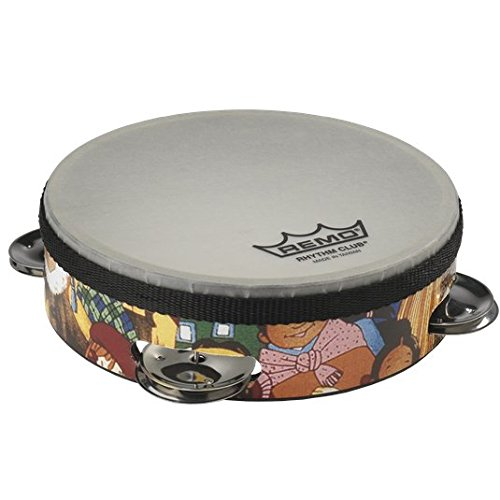 "Remo RH-2106-00 Rhythm Club Tambourine - Rhythm Kids, 6"" from Remo"