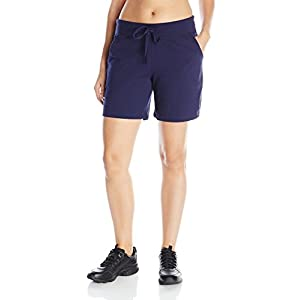 Hanes Women's Jersey Short, Navy, Large