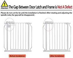 Fairy Baby Narrow Baby Gate for Stairs Pet Dogs Safety Metal Walk-Thru Gates Extra Wide,Fits Spaces Between 24.21 and 27.55 Wide,White Fits Spaces Between 24.21 and 27.55 Wide Rainbow Trade Co Ltd W046