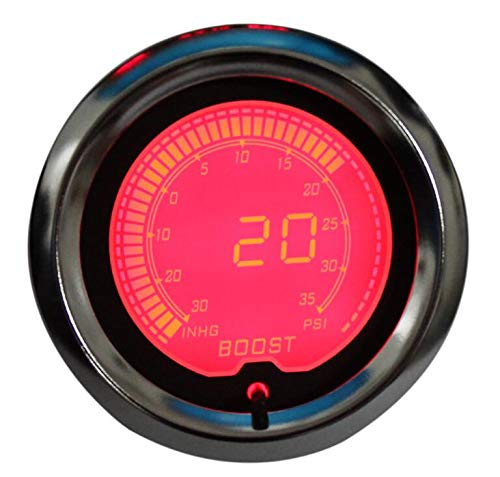 2 52mm 7 Color Digital LED Display PSI Turbo Boost Gauge Fit for Boat Car AUTO