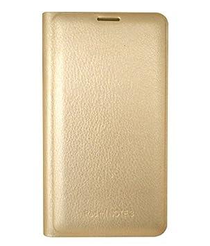COVERNEW Flip Cover for Xiaomi Redmi Note 3   Golden
