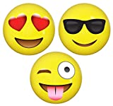 Emoji-Inflatable-Beach-Balls-12-Pack-by-LiveEco-Emoji-Party-Supplies-for-Birthdays-Party-Favors-Games-Prizes-and-more-Made-with-Quality-Child-Safe-Eco-Friendly-Materials