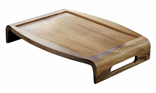 "Lipper International 1164 Acacia Reversible Serving Tray, 20.75"" x 15.38"" x 3.5"""