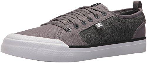 DC Men's Evan Smith TX SE Skate Shoe, Grey/Black, 10 D - Mens Smiths Shoes
