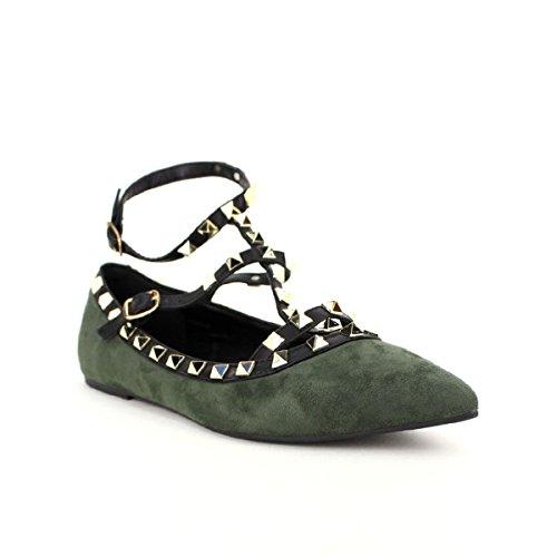 Chaussures Femme Ballerine Fashion Cendriyon Kielana Kaki 8AnwxC
