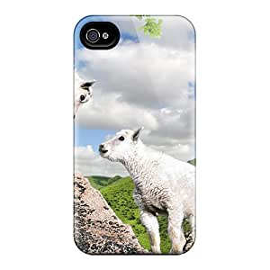 Iphone 6 CTH21800PmCk Pair Young Goats On The Cliff Cases Covers. Fits Iphone 6