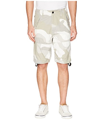 G-Star Men's Rovic Loose 1/2 Shorts Milk/Industrial Grey All Over 38 11 by G-Star Raw