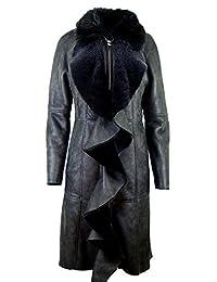 Women's sheepskin, Lambskin coat, Leather coat , fur KPKD-0001