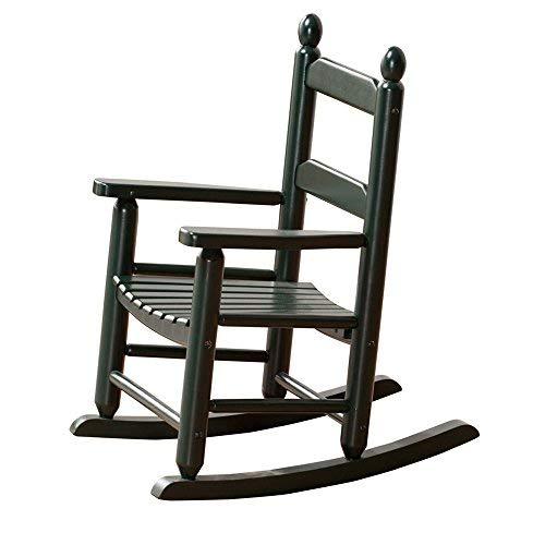 B&Z KD-20BG Classic Child's Porch Rocker Rocking Chairs Ages 3-7 Blackish Green