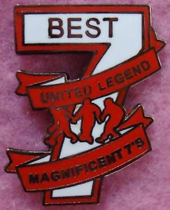 116fe202c George Best Magnificent 7 Manchester United Man Utd Enamel Pin Lapel Badge   Amazon.co.uk  Office Products