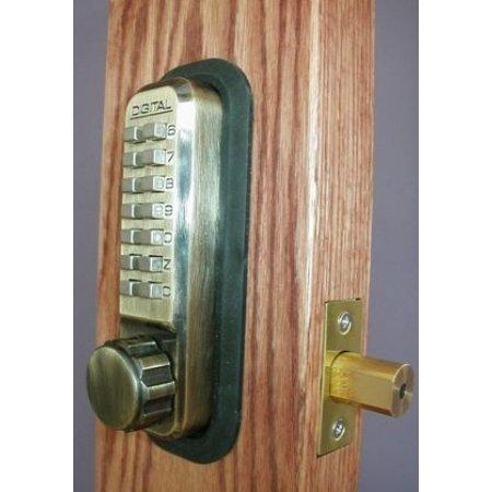 Digital Deadbolt Antique Brass Adjustable