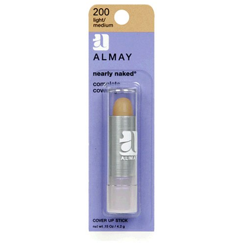 Almay Nearly Naked Cover Up Stick, Light/Medium 200, 0.15 Ounce Package
