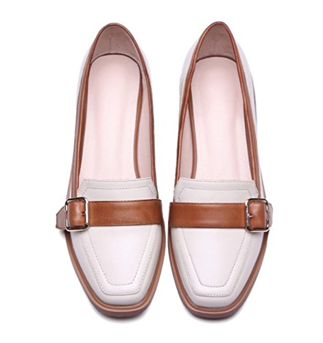scarpe signora primavera e autunno scarpe tacco basso con spessi della bocca poco profonda scarpe single testa quadrata , US7.5 / EU38 / UK5.5 / CN38