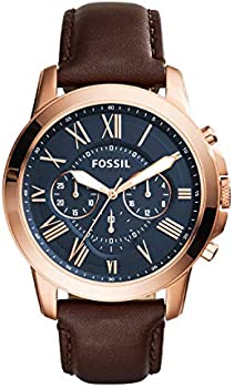 Fossil Men's 44mm Rose Goldtone Grant Watch