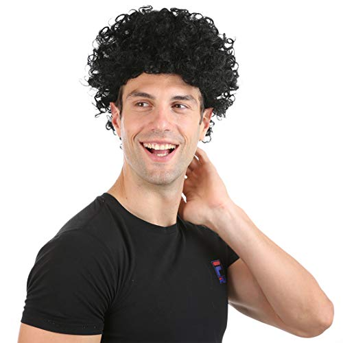 70's Afro Black Curly Wig for Men Funny Short Rocker Wig Halloween Party Men's ()