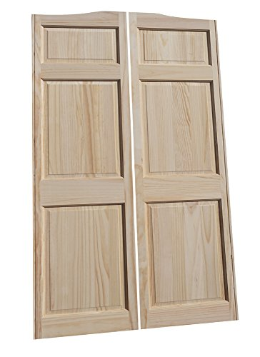 Cafe Doors by Cafe Doors Emporium | Full Height Pine Raised 6 Panel Cafe Door | Premade for 32