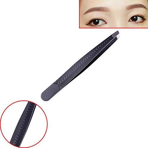 GUOJIAYI 5本の黒のステンレス鋼の眉毛のピンセットの眉毛クリップメイクツール