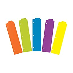 Avery Snap-In Plastic Bookmark Dividers, 5 Tabs, 1 Set, Multicolor (24908)