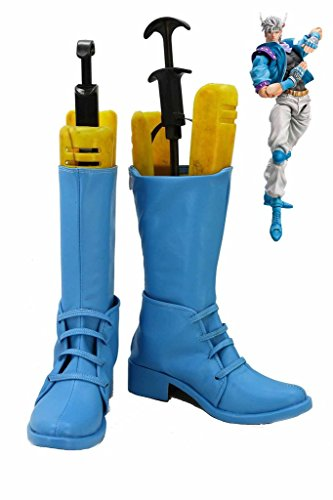 Jojos Bizzarro Adventure 2 Caesar Scarpe Cosplay Stivali Blu Su Misura