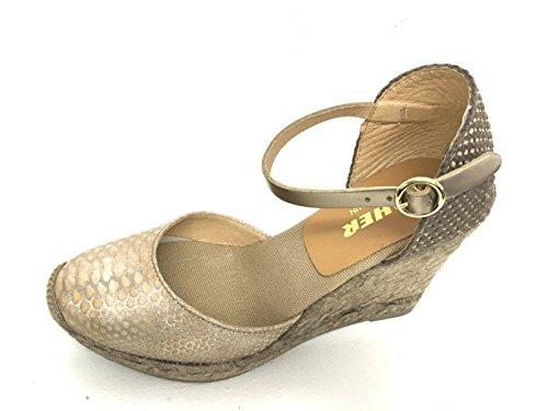 KANNA - Sandalias de vestir para mujer beige topo 37 EU