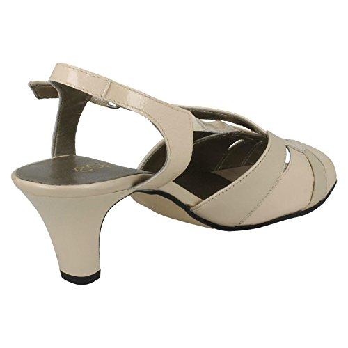 Equity -, Damen Pumps, Sandalen, mit Medium-Sarah Porcelain Wet Look (Beige)